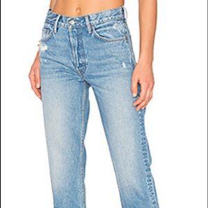 GRLFRND Helena Hi-Rise Crop Straight Jeans